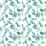 Floral seamless pattern.Eucalyptus branches.Image for fabric, paper and other printing and web projects. stock illustration
