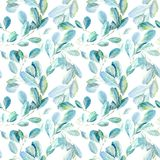 Floral seamless pattern.Eucalyptus branches.Image for fabric, paper and other printing and web projects. royalty free illustration