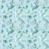 Floral seamless pattern.Eucalyptus branches.Image for fabric, paper and other printing and web projects. vector illustration