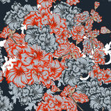 Floral seamless pattern. For fabric design Stock Image