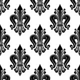 Floral seamless pattern with fleur-de-lis motif Royalty Free Stock Photo
