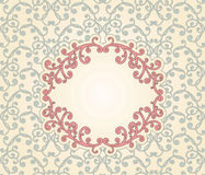 Floral seamless Pattern with Floral frame Stock Photo