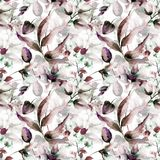 Floral seamless pattern. Watercolor illustration Stock Images