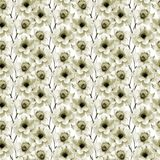 Floral seamless pattern. Watercolor illustration Stock Photography