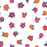 Floral seamless pattern. Flower background. Floral ornament. Al texture with flowers. Flourish tiled wallpaper Royalty Free Stock Images