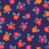 Floral seamless pattern. Flower background. Floral ornament. Al texture with flowers. Flourish tiled wallpaper Royalty Free Stock Image