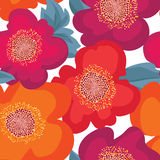 Floral seamless pattern. Flower background. Floral ornament Stock Images