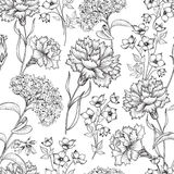 Floral seamless pattern. Flower background. Floral seamless text Royalty Free Stock Photos