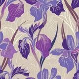 Floral seamless pattern. Flower background. Floral seamless text Royalty Free Stock Photography