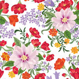 Floral seamless pattern. Flower background. Floral seamless text Stock Photo
