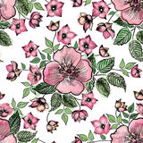 Floral seamless pattern Flower background. Floral seamless textu Stock Photos