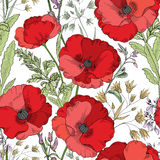 Floral seamless pattern. Flower background. Floral tile ornament Royalty Free Stock Photo