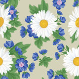 Floral seamless pattern. Flower background. Floral tile ornament Stock Photo
