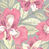 Floral seamless pattern. Flower background. Flourish garden text. Ure with flowers royalty free illustration