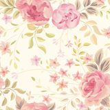 Floral seamless pattern. Flower background. Flourish garden wall Royalty Free Stock Image