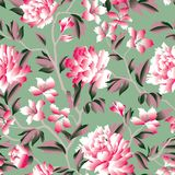 Floral seamless pattern. Flower background. Flourish garden texture. Floral seamless pattern. Flower background. Flourish garden wallpaper with flowers in Stock Image