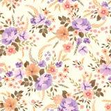 Floral seamless pattern. Flower background. Ornamental garden stock illustration