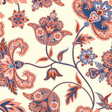 Floral seamless pattern. Flower background. Flourish oriental ornament Stock Photo
