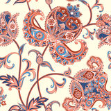 Floral seamless pattern. Flower background. Flourish oriental ornament Royalty Free Stock Photography