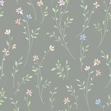 Floral seamless pattern. Flower background. Flourish garden text Royalty Free Stock Images