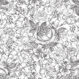 Floral seamless pattern. Flower background. Flourish seamless te Stock Photos