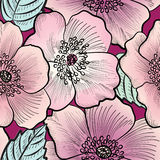 Floral seamless pattern. Flower background. Flourish texture Royalty Free Stock Photo