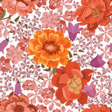 Floral seamless pattern. Flower background. Flourish texture Stock Images