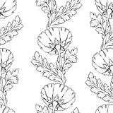 Floral seamless pattern. Flower background. Flourish tiled wallpaper and stylized acanthus leaves Stock Photo