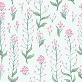 Floral seamless pattern. Flower background. Flourish wallpaper w Stock Photography