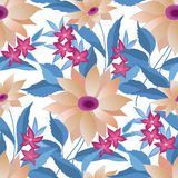 Floral seamless pattern. Flower  background. Stock Photo