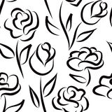 Floral seamless pattern. Flower background. Royalty Free Stock Photos