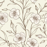 Floral seamless pattern. Flower border background. Floral tile s Stock Images