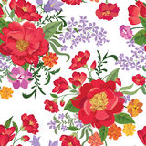 Floral seamless pattern. Flower border background. Floral tile s Royalty Free Stock Photos