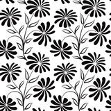 Floral seamless pattern. Flower bouquet background. Royalty Free Stock Images