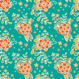 Floral seamless pattern. Flower Garden. Royalty Free Stock Photography