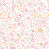 Floral seamless pattern.  Flower icon gentle background. Spring Stock Photos