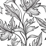Floral seamless pattern. Flower and leaves background. Floral se Stock Images
