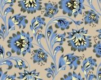 Floral seamless pattern. Flower ornamental festive background. Floral seamless pattern. Flower ornament. Ornamental flourish background in traditional folk stock illustration