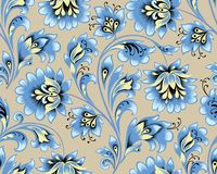 Floral seamless pattern. Flower ornamental festive background. Floral seamless pattern. Flower ornament. Ornamental flourish background in traditional folk vector illustration