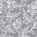 Floral seamless pattern. Flower peony background. Floral tile ornament Stock Image