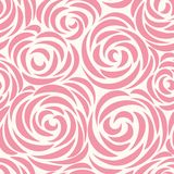 Floral seamless pattern with flower rose. Abstract swirl line background. Floral seamless pattern with flower rose. Abstract swirl line bloom background. Petal Stock Images