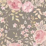 Floral seamless pattern. Flower background. Flourish garden text vector illustration