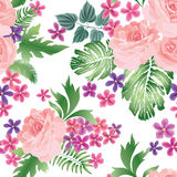 Floral seamless pattern. Flower rose bouquet background. Summer. Garden Royalty Free Stock Images