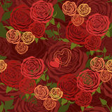 Floral seamless pattern with flower roses vector illustration