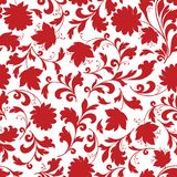 Floral seamless pattern. Flower silhouette ornament. Ornamental background Royalty Free Illustration