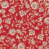 Floral seamless pattern. Flower swirl background. Ornamental brocade retro painting. Floral seamless pattern. Flower silhouette ornament. Ornamental flourish vector illustration