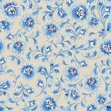 Floral seamless pattern. Flower swirl background. Ornamental orient easten painting. Floral seamless pattern. Flower silhouette ornament. Ornamental flourish vector illustration