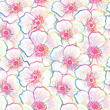 Floral seamless pattern. Flower sketch background. Floral decora Royalty Free Stock Images