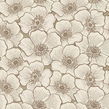Floral seamless pattern. Flower sketch background. Floral decora Stock Images
