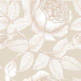 Floral seamless pattern. Flower sketch background. Flourish decor Stock Photography